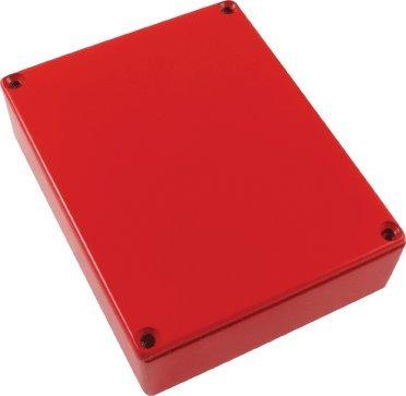 Hammond Replacement 1590BB Die-cast Aluminum Box, Red ()