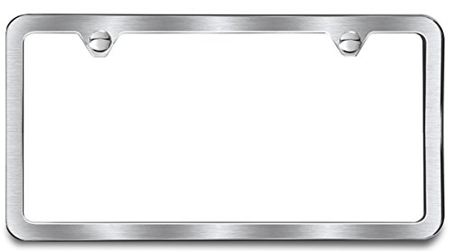 AutoStuff - Camisasca Brushed Finish 2 Hole License Frame