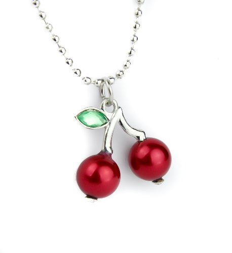 Rockabilly Cherries Necklace Tattoo Ink Burlesque Goth 50s Pinup (Pin Up Dolls Tattoos)