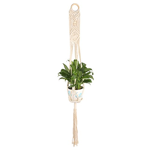 Hanging Planter – HUMUTU Macrame Plant Hanger Indoor Outdoor, Large Hanging Plant Holder Bohemian décor for Home and Balcony 45 Inch