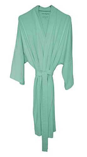 - Cat & Dogma Women's Soft Organic Cotton Kimono Bath Robe (One Size/6 Colors) (Mint)