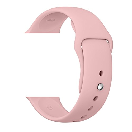 Vitech Soft Silicone Replacement Sport Band for 42mm Apple Watch Models (3 Pieces of Bands Included for 2 Lengths, for Apple Watch Series 1 Series 2 Sport&Edition 2016) (42mm-Vintage Rose)