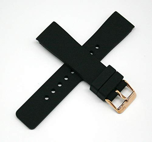 Lucien Piccard 20MM Silicone/Rubber Watch Strap Band 7.5