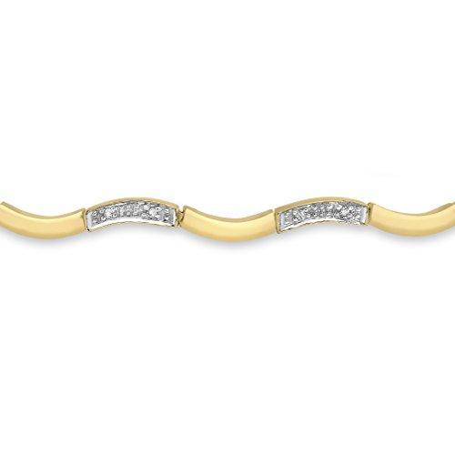 Carissima Gold - Bracelet cordon - Or jaune 9 cts - Diamant 0.12 cts - 22.5 cm - 1.28.453Y