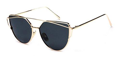 GAMT Fashion Cat Eye Women Men Brand Design Sun Glasses Retro Sunglasses Lens Black Frame Gold