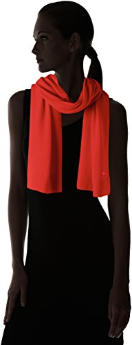 Lacoste Women's solid Fine Jersey Cashmere Scarf, Regal Red, One Size by Lacoste (Image #3)