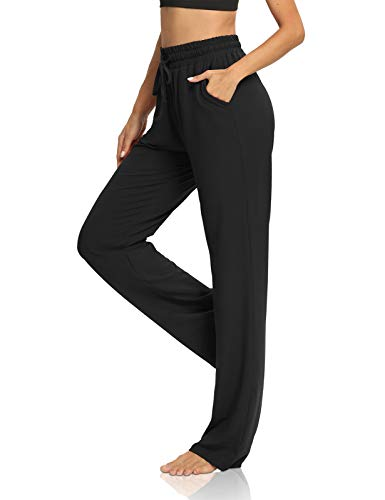 DIBAOLONG Womens Yoga Pants Wide Leg Comfy Drawstring Loose Lounge Long Palazzo Workout Sweatpants with Pockets