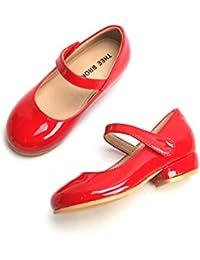 Toddler Little Girls Low Medium Heel Dress Flats Mary Jane Pumps