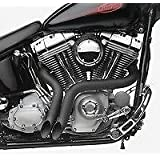 ACCESSORIESHD - 2 Inch Black LAF Ground Shakers Exhaust for Harley-Davidson Sportsters, Baggers,Softails and Customs