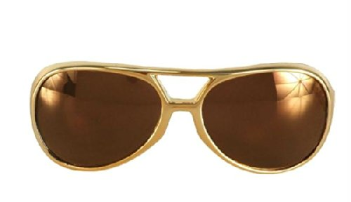 Roller Girl Costume Ideas (Rock and Roller Glasses - Gold Gold Costume Accessory)