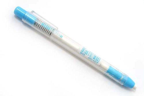 三菱鉛筆 ノック式消しゴム E-KNOCK 水色軸
