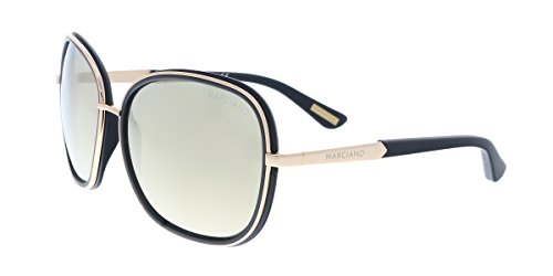 Guess by Marciano GM0734 33G Black/Gold Rectangular - Guess Sale Sunglasses