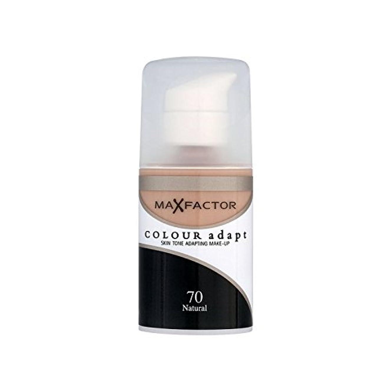 傾斜意欲産地マックスファクターの色は、基礎自然70を適応させます x2 - Max Factor Colour Adapt Foundation Natural 70 (Pack of 2) [並行輸入品]