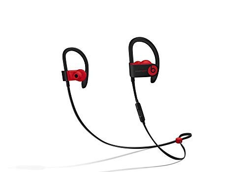 Beats Powerbeats3 Wireless Ear-Hook Headphones Decade Collection Black/Red MRQ92 (Renewed)