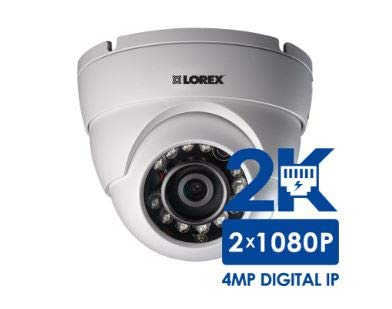 Lorex LNE4172 4MP High Definition IP Camera with Color Night Vision (Dome) - Night Vision Dome Color Camera