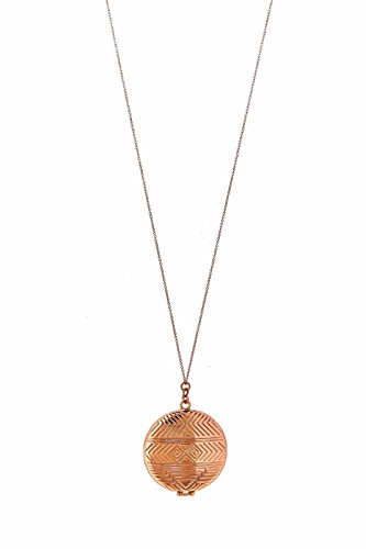 HOUSE OF HARLOW 1960 Medallion Locket Necklace Rose Goldtone (Medallion Locket)