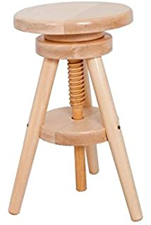 Exceptional Tonby Adjustable Screw Seat Kitchen Bar Stool Wooden Frame