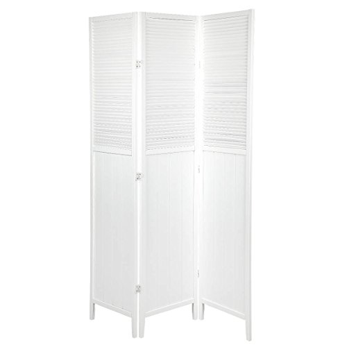 Magshion Oriental Room Divider Hardwood Shoji Screen (3 Panel Blinds Shades-white) by Magshion Futon Furniture