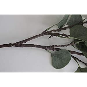 ZHIIHA 3 pcs Artificial Eucalyptus Garland Long Silver Dollar Leaves Foliage Plants Greenery Fake Plastic Branches Greens Bushes 6
