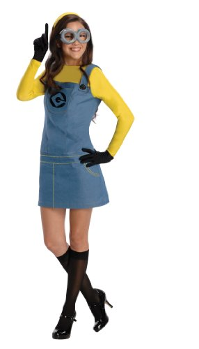 Rubie's Women's Despicable Me 2 Minion Costume with Accessories, Multicolor, Large (Womens Halloween Costumes Sale)