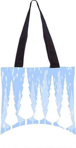 Snoogg Schneezeit 2374 13,5 x 15 Zoll-Shopping-Dienstprogramm-Einkaufstasche aus Polyester-Segeltuch gemacht