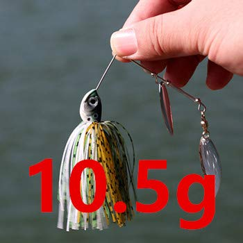 Fishing Spinnerbait Lures 14g Double Willow Blade Spinner Baits for Bass Pike Tiger Muskie Metal Jig Lure - (Color: 1pcs)