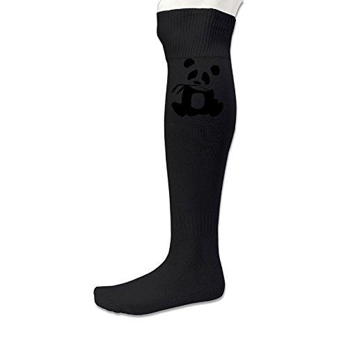 Panda Is My Sprit Animal Men's&Women's Training SocksBlack (1 Pair)