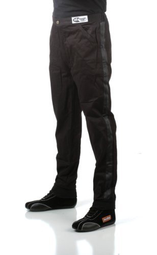 Sfi 1 Pants - RaceQuip 112006 112 Series X-Large Black SFI 3.2A/1 Single Layer Driving Pant by RaceQuip