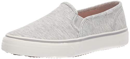 Keds Women's Double Decker Stripy Jersey Sneaker, Light Grey, 8.5