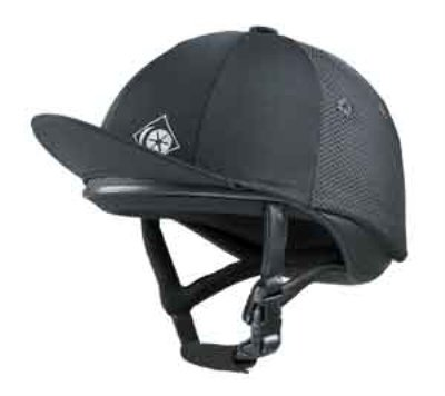 Charles Owen Equestrian - Charles Owen J3 Riding Helmet / Skull Hat - Black (1 1/2 (56cm))