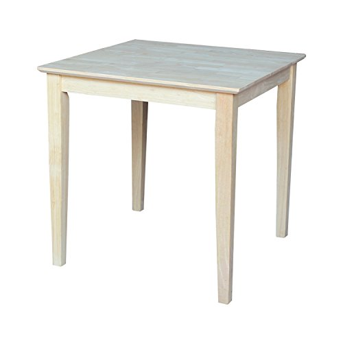 (International Concepts Square Solid Wood Top Table with Shaker Legs, 30-Inch)