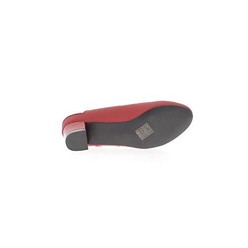 Scarpe grandi dimensioni rosso Tacco 5cm restituito similpelle e verniciato inserti
