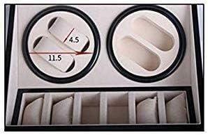 上げ機 自動ワインダー4 + 6表エレクトリックモーター回転機械式時計ワインディングボックスブラック表シェーカー自動表シェーカーウォッチ 腕時計ワインディングマシーン
