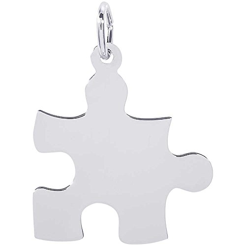 (Rembrandt Charms Puzzle Piece Charm, Sterling Silver)