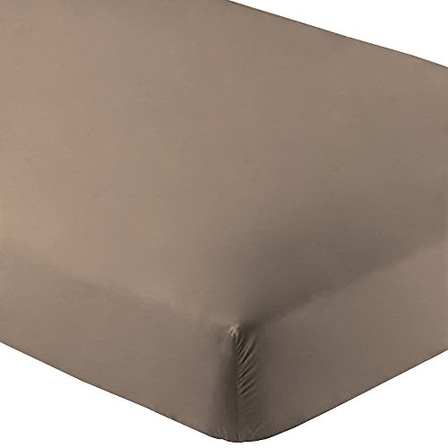 Bare Home Fitted Bottom Sheet Premium 1800 Ultra-Soft Wrinkle Resistant Microfiber, Hypoallergenic, Deep Pocket (Full, Taupe)