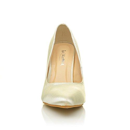 Darcy Ivory Satin Stilleto High Heel Pointed Bridal Court Shoes kuBTtxmn