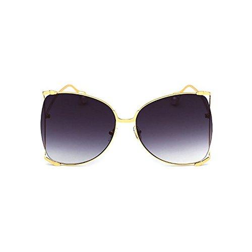 Gray Grande Gafas Mujer Sol Marco GAOJUAN Moda De Gafas De para Pink Perlas Gafas Ghtweight q6IUf0w