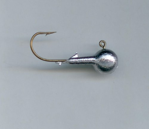 Round Jig Head (DO-IT ROUND HEAD JIGS HAND POURED 1/4oz X #1 EAGLE CLAW HOOK (10 per pack))
