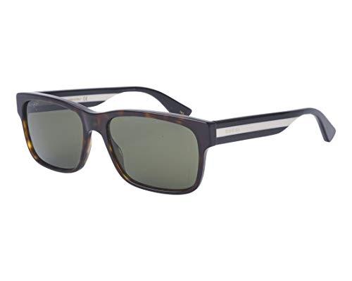 (Gucci GG0340S Sunglasses 008 Havana/Multicolor / Green Lens 58 mm)