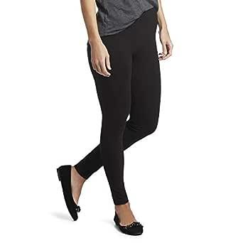 HUE Women's Ultra Leggings with Wide Waistband, Black, Medium