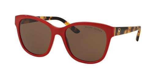 Red C55 Lauren RL8143 Shiny Rojo Ralph Laque Brown v76wYx