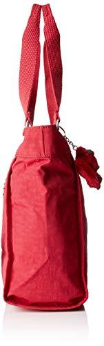 Cm Femme 42x27x13 C New Red Rouge radiant Shopper Kipling 6z1Zwq7x