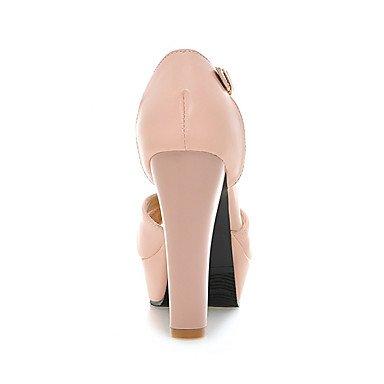 Sandalias Boda beige formales formales y Mujer Tacón Vestido RobustoBlanco Semicuero Verano Zapatos Zapatos LvYuan Fiesta Negro Primavera Noche Casual ACx50wRnq