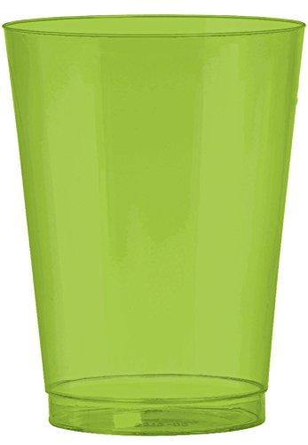 Amscan Big Party Pack Plastic Cups, 10 oz., (Kiwi Forks)
