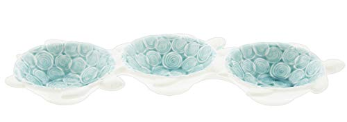 The Bridge Collection Ceramic Sea Turtles Serving Dish with 3 Compartments ()