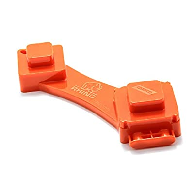 Camco RhinoFLEX 6-in-1 Sewer Cleanout Plug Wrench with Easy Grip Handle- Easily Loosen Any RV Dump Station Cap with Universal Design, 3