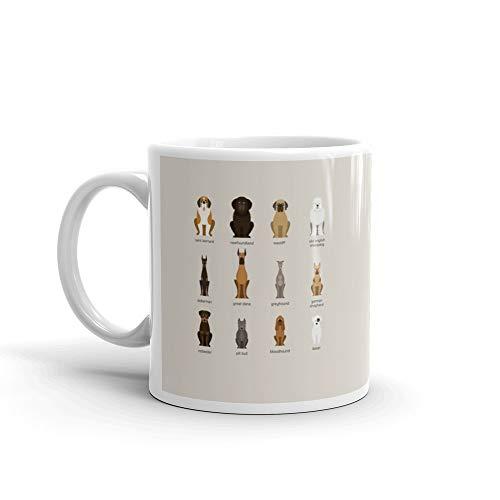 - Dog Breeds Set Giant And Large Size Funny Mugs Cups Ceramic 11 Oz