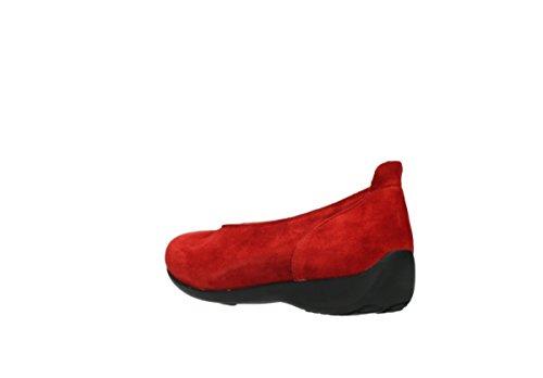 40500 Wolky Rosso Balletto Camoscio Balletto Comodità Pompe dUnqwIpp