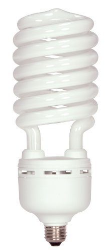 - Satco S7377 105 Watt (400 Watt) 7000 Lumens Hi-Pro Spiral CFL Daylight White 5000K  Medium Base 120 Volt Light Bulb