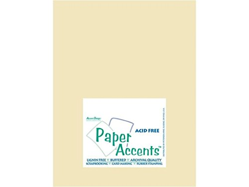 Accent Design Paper Accents ADP8511-25.943 No.27 8.5'' x 11'' Ivory Art and Craft Vellum by Accent Design Paper Accents